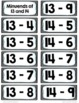 Subtraction Flash Cards {Subtracting Within 20}