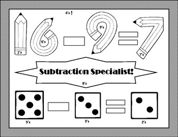 Subtraction Flash Cards and Quizzes