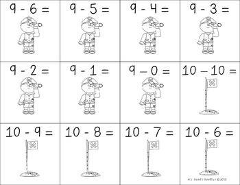 Subtraction Flash Cards for Students (0 - 12 )