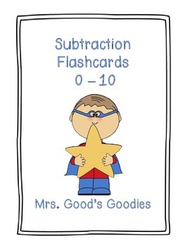 Subtraction Flash Cards for the Teacher!  Super Heroes Theme