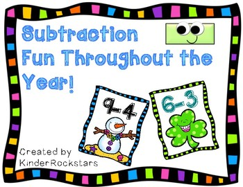 Subtraction Flash Cards for the Year