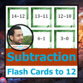 - - - Subtraction Flash Cards to 12 - - -