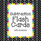 Subtraction Flash Cards with Answers