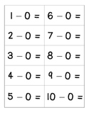 Subtraction Flashcards (0-0 to 10-10)