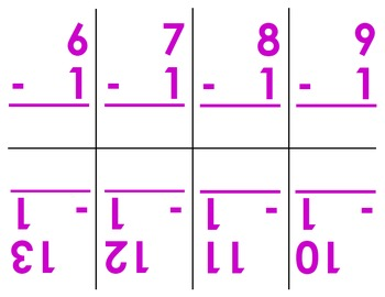 Subtraction Flashcards (0-12)