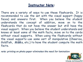 Subtraction Flashcards 1-20 - math, task cards, study guide