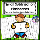 Subtraction Flashcards - Counting Dots - Small Size - Special Ed