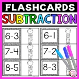 Subtraction Flashcards Differences to 10