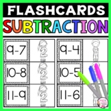 Subtraction Flashcards Differences to 20