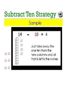 Subtraction Flashcards Promethean Flipchart (Common Core 1.OA.6)