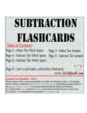 Subtraction Flashcards Promethean Flipchart (Common Core 1.OA.6)