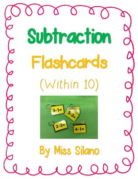 Subtraction Flashcards (Subtraction within 10)