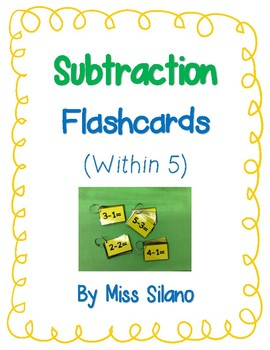 Subtraction Flashcards (Subtraction within 5)