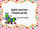 Subtraction Flashcards for Common Core
