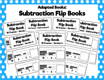 Subtraction Flip Book Bundle
