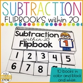 Subtraction Flipbooks for Subtraction Facts within 20