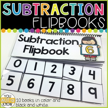 Subtraction Flipbooks for Subtraction Facts within 10