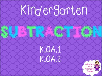 Subtraction Flipchart - Baker's Theme