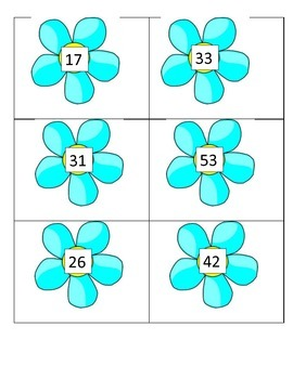 Subtraction Flower Matching