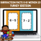 Subtraction Fluency 0-10 within 20 PowerPoint Game (Thanksgiving Edition)