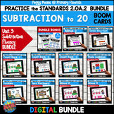 Subtraction Fluency 2.OA.2 | BOOM | MENTAL MATH STRATEGIES BUNDLE