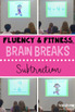 Subtraction Math Facts Fluency & Fitness Brain Breaks Bundle