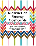 Subtraction Fluency Flashcards