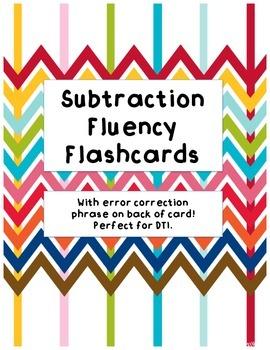 Subtraction Fluency Flashcards