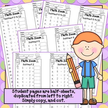 Fact Fluency Subtraction*