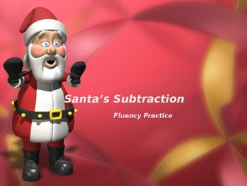 Subtraction Fluency Practice PowerPoint (Santa Theme)