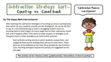 Subtraction Fluency Sort- Count up vs. Count back