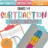 Subtraction Fluency Tracker Craftivity