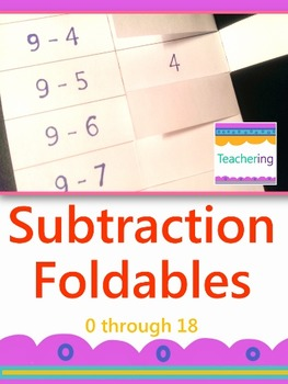 Subtraction Foldables {Interactive Notebook Foldables or Foldable Flashcards}
