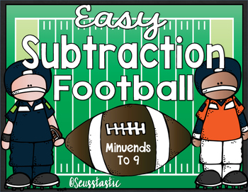 Subtraction Football (Easy)