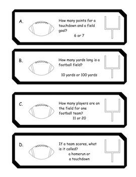 Subtraction Football Theme
