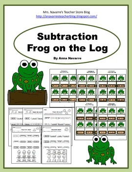 Subtraction Frog on a Log