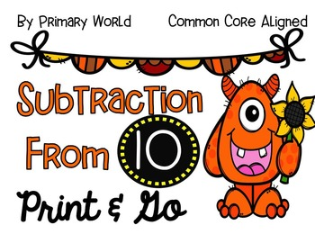 Subtraction From 10 Activities- Fall Theme