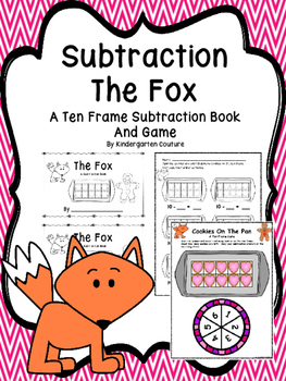 Subtraction From 10 Book and Game - The Fox
