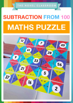 Subtraction From 100 - Math Puzzle