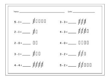 Subtraction From 5: Games, Songs & Practice Pages