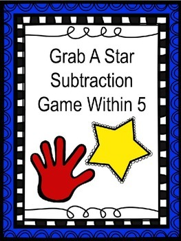 Subtraction From 5 activity and worksheet