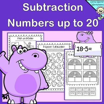 Subtraction to 20 / Subtracting (Numbers up to Twenty) Worksheets / Printables