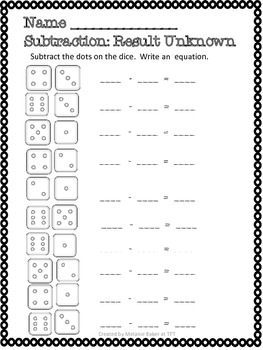 Subtraction Fun 1.OA.1