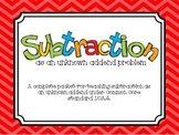 Subtraction Fun 1.OA.4 Unknown Addend Problems