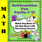 Subtraction Fun Facts 0-10: Dog House to Bones