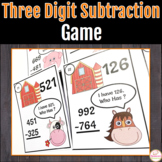 Three-digit Subtraction Game-I have. Who Has?