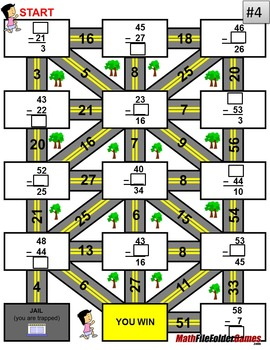 Subtraction Mazes - Fun Worksheet Bundle
