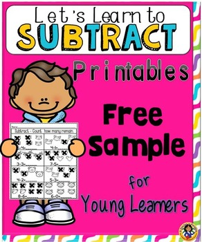 Subtraction Fun Worksheets and Activity Set for Young Learners FREE SAMPLE