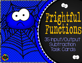 Subtraction Function Tables Input Output Task Cards