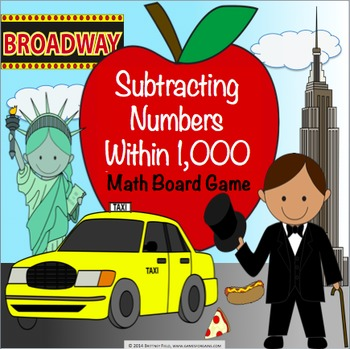 Subtraction Activity: Subtracting Numbers Within 1,000 Game (2.NBT.7, 3.NBT.2)